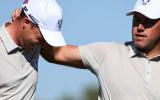 Danny Willett (l.) und Lee Westwood wollten eigentlich gemeinsam für England beim World Cup of Golf an den Start gehen.