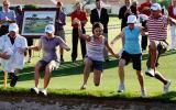 Bei der ANA Inspiration feiert die Siegerin ihren Erfolg traditionell mit einem Sprung in den Teich. (Foto: Getty)