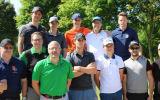 Im GC Hummelbachaue hat es der Belgier Thomas Pieters mit sechs Golf Post Lesern samt Caddie aufgenommen. Der Callaway Jailbreak-Moment im Mai. (Foto: Golf Post)
