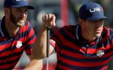 US-Open-Sieger Brooks Koepka (r.) und der Weltranglistenerste Dustin Johnson sind nicht nur gute Freunde, sie trainieren auch regelmäßig zusammen.