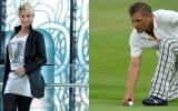 United Charity versteigert zwei Startplätze für den Eagles Friends Charity Golf Cup an der Seite von Ex-Fußballer Uli Borowka (r.) sowie Schlagerstar Claudia Jung.