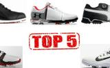 Unsere Top 5 Golfschuhe der Saison 2017. (Foto: Adidas, FootJoy, Under Armour, Puma und Nike)
