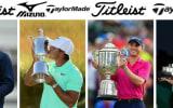 Die Golfschläger und Golfbälle der Majorsieger 2017 im Blick ins Bag. (Foto: Getty)