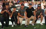 Die geballte Golf-Prominenz schlug auf der Hamburger Reeperbahn zum Kick-Off der Porsche European Open 2018 ab. (Foto: Golf Post)