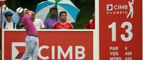 Justin Thomas hat einige Probleme in Malaysia und kann sich nicht nach oben spielen. (Foto: Getty)