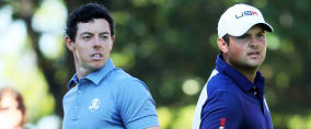 Am FInaltag jagt Rory McIlroy (l) Patrick Reed. Die Tee Times zum Finale des US Masters 2018. (Foto: Getty)