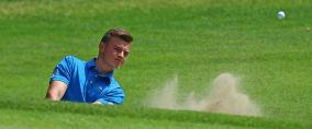 Der Einsatz von Jannik de Bruyn für den GC Hösel am dritten Spieltag der DGL ist noch fraglich. (Foto: DGV/stebl)