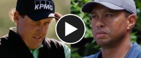 Phill Mickelson gegen Tiger Woods. Bald ist es so weit. (Foto: Twitter/@GolfWeek)