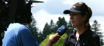 Sandra Gal stand Golf Post im Rahmen der Ladies German Open im Golfclub Wörthsee Rede und Antwort.