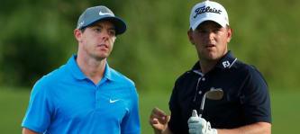 Rory McIlroy und Bernd Wiesberger bei der PGA Championship 2014