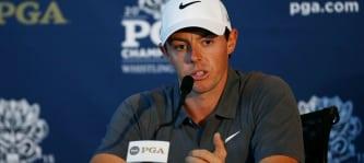 Rory Mcllroy auf der Pressekonferenz vor dem Major in Whistling Straits. (Foto:getty)