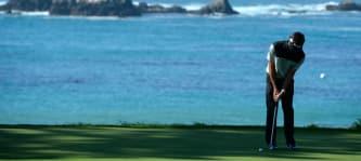Endlich wieder Pebble Beach: Kumpel Mark Wahlberg überredete Bubba Watson, 2016 wieder beim Pro-Am mitzuspielen. (Foto: Getty)