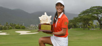 LET-Rookie Celine Boutier gewinnt die Sanya Ladies Open in China. (Foto: Twitter @LETgolf)