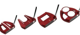 Odyssey verwendet die Microhinge-Technologie in sämtlichen O-Works Puttern. Da die starke rote Farbe von Tour-Pros gewünscht wurde, konnte dies mit den O-Works Red Puttern ermöglicht werden. (Foto: Odyssey)