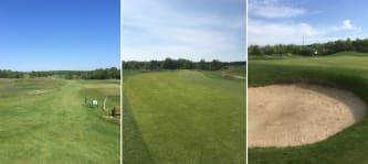 Schmale Fairways und zahlreiche Topfbunker - der Faldo Course Berlin ist einer der schwersten Plätze Deutschlands. (Foto: Golf Post)
