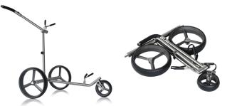 Der neue TitanCad Evolution Sport Elektro-Trolley von PG-PowerGolf. (Foto: PG-PowerGolf)