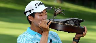 Michael Kim gewinnt mit der John Deere Classic seinen ersten Titel auf der PGA Tour. (Foto: Getty)