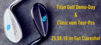 Titan Golf lädt zum Testen ein. Am 25.08.2018 steigt das Event im Gut Clarenhof. (Foto: Titan Golf)