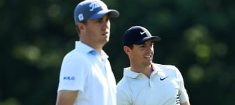 Justin Thomas und Rory McIlroy beim World Golf Championship Bridgestone Invitational 2018. (Foto: Getty)