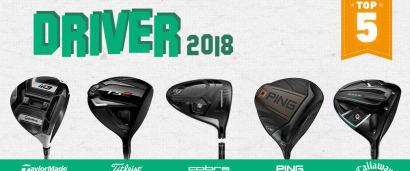 Die besten fünf Driver in diesem Jahr in einem Artikel. (Foto: TaylorMade, Titleist, Cobra, Ping und Callaway)