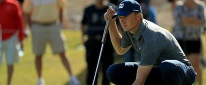 Jordan Spieth dreht auf den Grüns der Shriners Hospitals for Children Open der PGA Tour auf. (Foto: Getty)