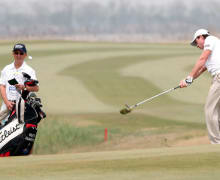 <<enter caption here>> at Binhai Lake Golf Course on May 3, 2013 in Tianjin, China.
