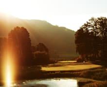 Image,Sport,Grand Tirolia,Golf,Sport,Outdoor,golfen, golfen gehen,morgen,ausblick,Golfclub, Clubhaus, Golfplatz, Abendstimmung,