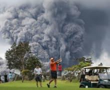Golf-Hawaii-Vulkan-Kilauea
