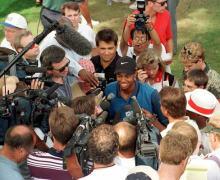 Tiger Woods bei seinem ersten PGA Tour-Turnier