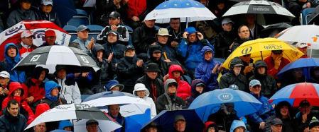 Regen und Wind - die Open Championship wird britisch