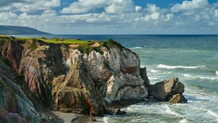 Cabot Cliffs macht mit beeindruckenden Klippen seinem Namen alle Ehre.