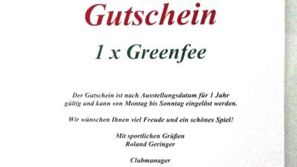 Greenfee- Gutschein für den Golfclub Zell am See- Kaprun (AT)
