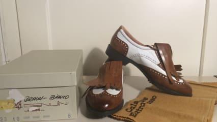 NEU!! Herren-Golfschuhe von Nebuloni (cognac/weiß)