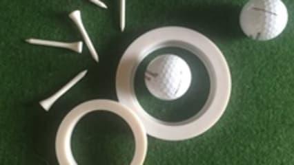 Putting -Tool für das Golfbag + Bälle/Tee`s
