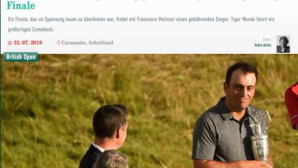 """""""Bescheidener"""" Sieger, Tigers """"flüchtiger Moment"""" - die Schlagzeilen zur Open Championship"""