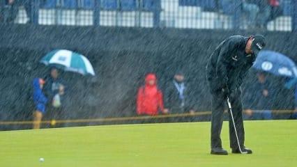 Golf-Albtraum-Regen