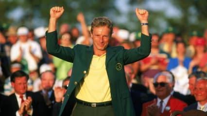 1 Bernhard Langer 1993 bei seinem zweiten Mastertitel. 2013 feiert Langer seine 30. Teilnahme in Augusta. (Foto: Getty)