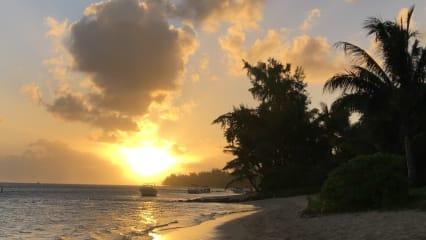 Begrüßung mit Sonnenaufgang