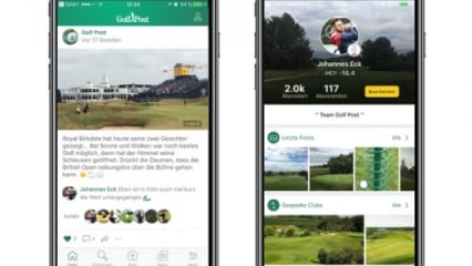So funktioniert die Golf Post App