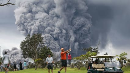 Golf-Hawaii-Vulkan-Kilauea