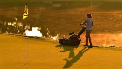 PGA Championship 2017 Quail Hollow Vorbereitungen an Loch 17