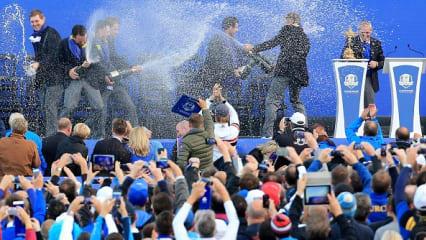 Da ist das Ding!!! Europa gewinnt den Ryder Cup!