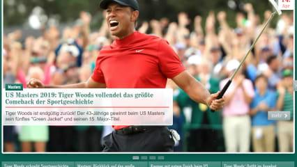 Tiger-Mania - Tiger Woods' Sieg in der Presse