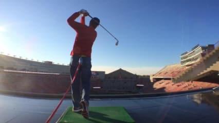 Twitter Bilder der Woche - Golf vor 80.000 Zuschauern