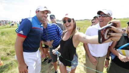 US Open 2017 - Selfies, Sonne, schönes Golf