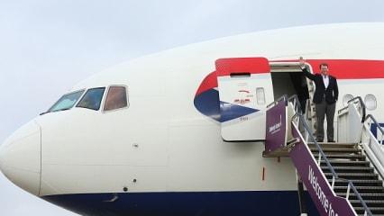 Exit a Plane Challenge - Tom Watson gibt den Staatschef