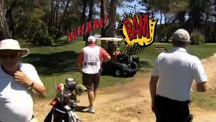 Golf-Cart-Unfall bei der Ladies European Tour.