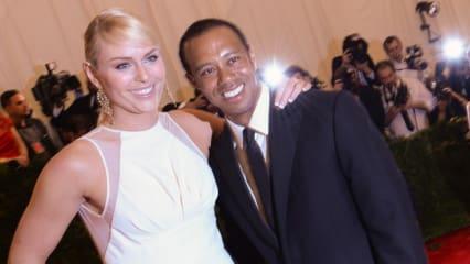 Lindsey Vonn spricht über ihr Beziehungsglück mit Golfstar Tiger Woods.