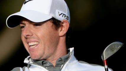 Rory McIlroy spielte zum Auftakt der Omega Dubai Desert Classic in einem Flight mit Tiger Woods und brachte an der Seite des Weltranglistenersten eine 63er Runde ins Clubhaus