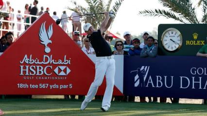 Jamie Donaldson aus Wales ist Titelverteidiger bei der Abu Dhabi Golf Championship